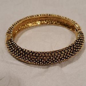Gold/Black Pebbled Bracelet